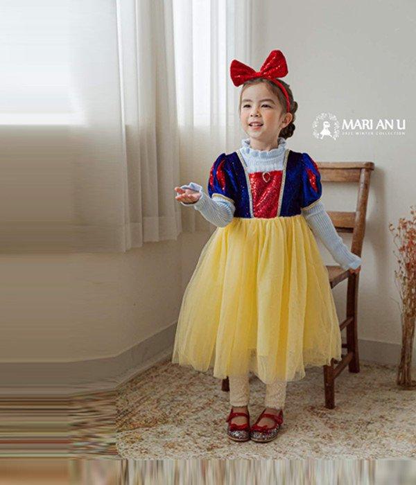 마리앤유 사과공주원피스(머리띠세트)