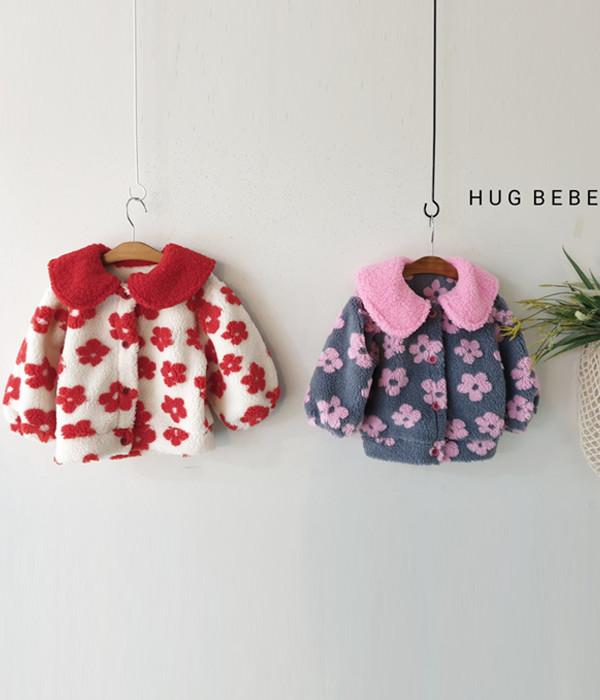 허그베베 꽃자켓