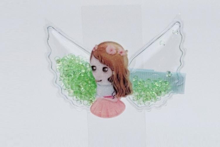 아이스티 긴머리소녀핀10세트
