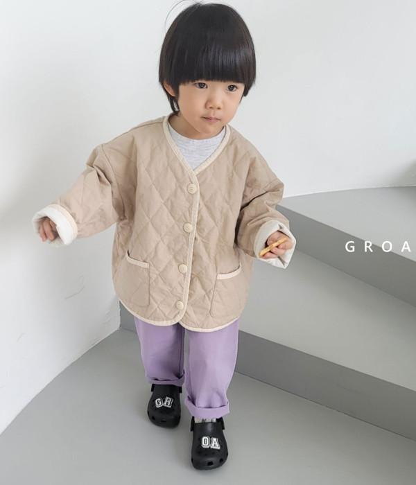 그로아 로아자켓(누빔베이지)(모델)