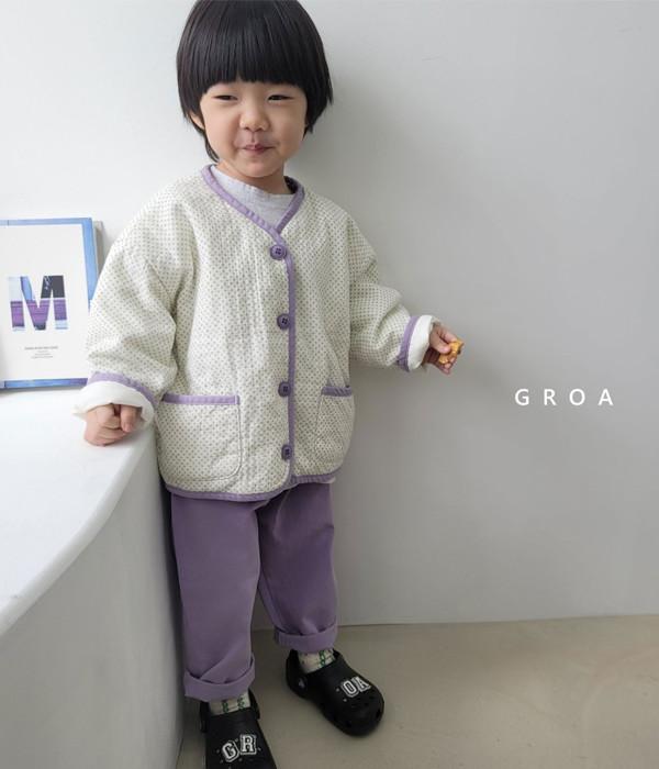 그로아 로아자켓(잔꽃크림)(모델)