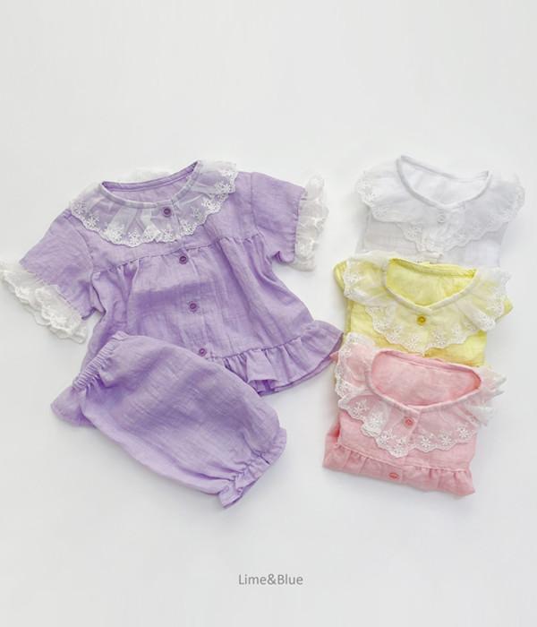 라임앤블루 여름소피아잠옷