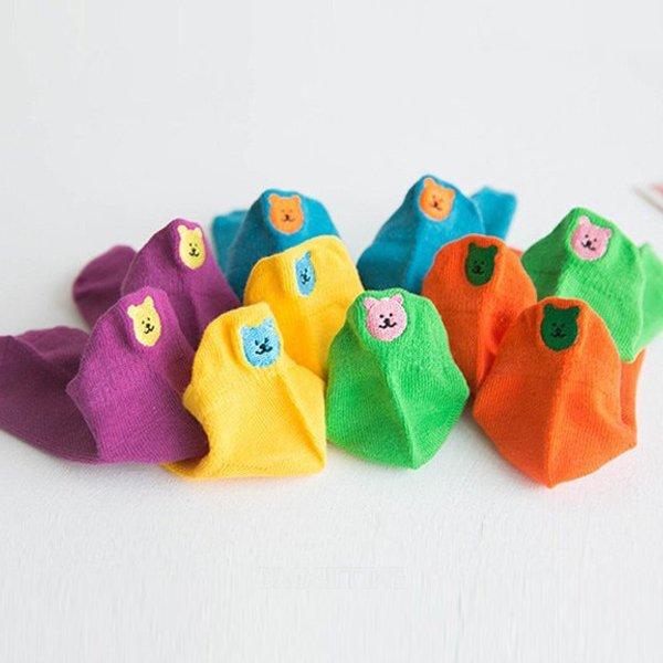미소KC 컬러곰양말세트*S(1~3세)~XL(9~12세)*