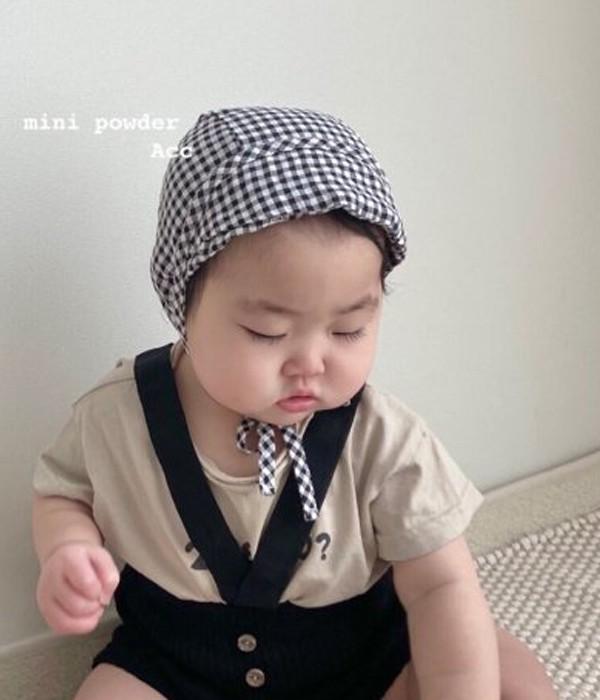미니파우더 첵챙보넷(모델착샷)
