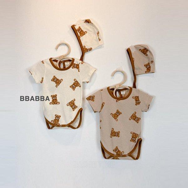 베어랍빠슈트-보넷세트*S~9개월~M~18개월*