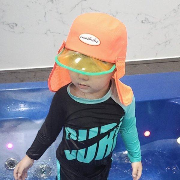와이키키형광수영캡*FREE(4~7세)*