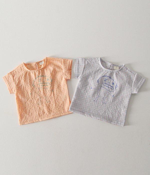 이플 (바닥컷)꼬마셔츠