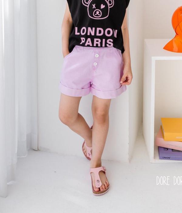 도레도레 라임단치반바지-핑크