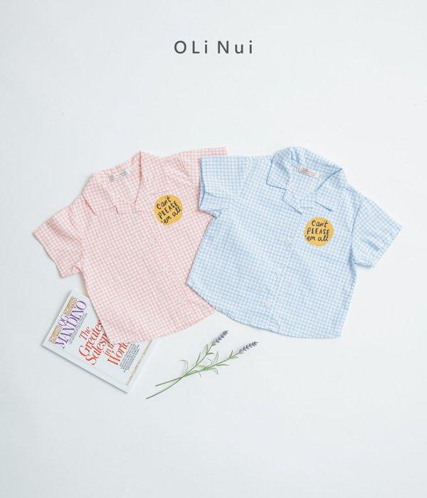 올리누이 오픈칼라나염셔츠