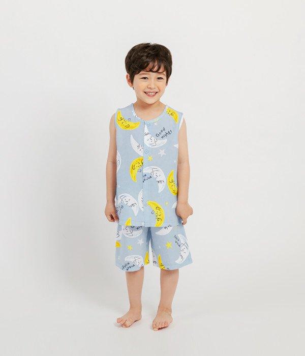 멜리스 풍기인견민소매잠옷드림블루