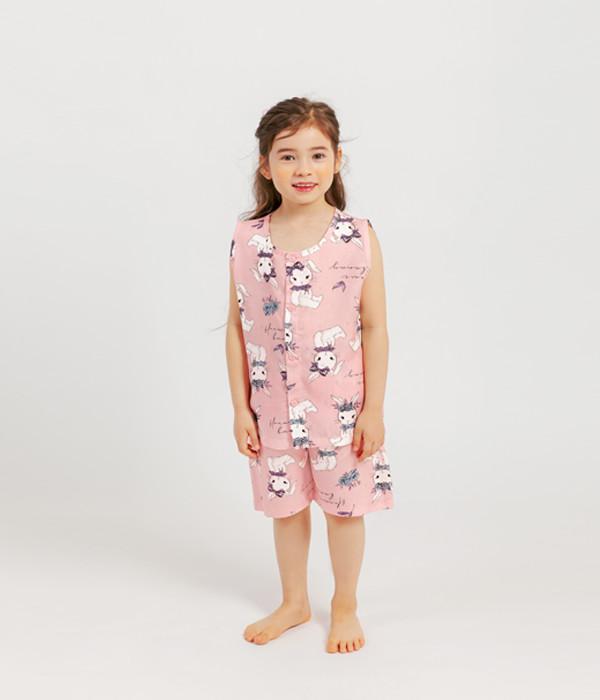 멜리스 풍기인견민소매잠옷토끼인형