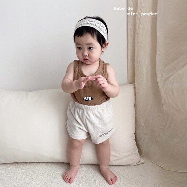 미니파우더KC 레터링숏팬츠(모델컷)*12M~18M*