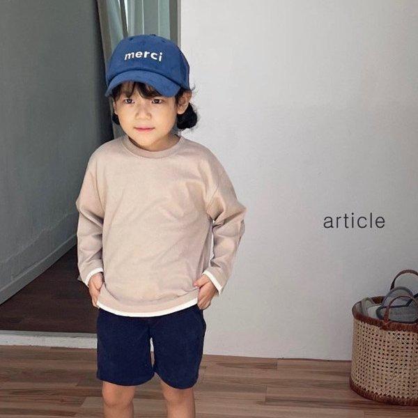 아티클KC 소매배색이중티(모델컷)*S~XL*