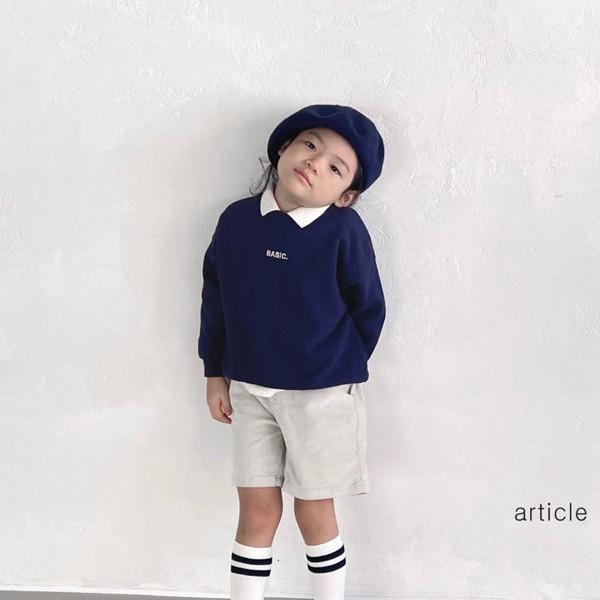 아티클KC 니트카라맨투맨티(모델컷)*S~XL*