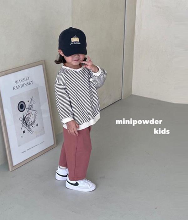 미니파우더 8부일자팬츠(모델컷)