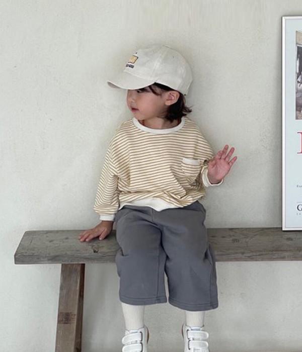 미니파우더 단포켓맨투맨(모델컷)