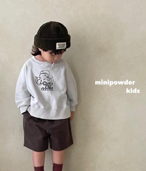 미니파우더 뽀빠이맨투맨(모델컷)