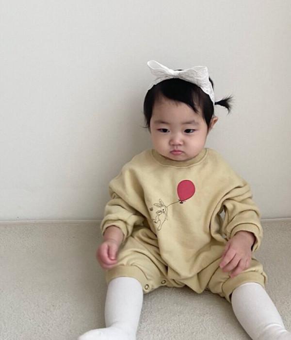 미니파우더 토끼풍선슈트(모델컷)